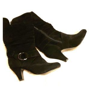 Black suede boots. Size 7.5